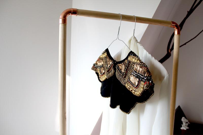 Een simpel kledingrek