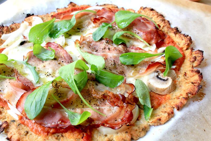 Pizzabodem van bloemkool
