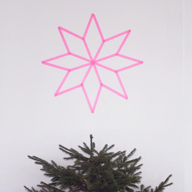Kerstster van washitape